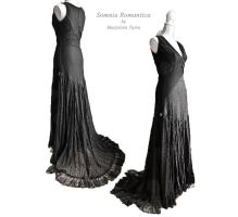 Dress Macabre art nouveau, by Somnia Romantica by SomniaRomantica