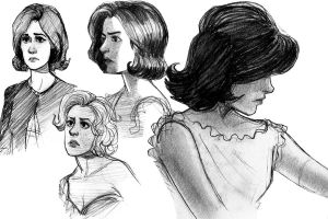 Jackie and Marilyn sketches by TitanicGal1912