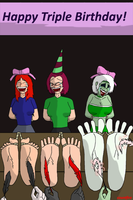 Triple Birthday Tickles by countfire