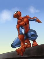 Spidey on the Roof coloured by TruZe