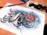 Skull Tattoo Design by taylorweaved