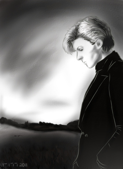 Who?David Sylvian.Drawn by me. by Cartoon-Racoon
