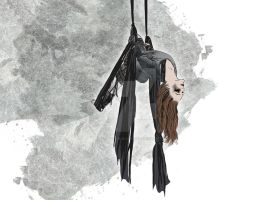 mashup: aerial yoga meets the 100 by mel-an-choly