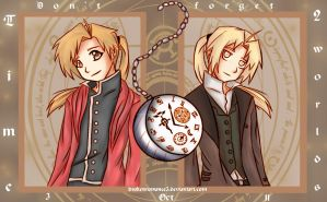 FMA-Time in 2 worlds by BrokenRomance3