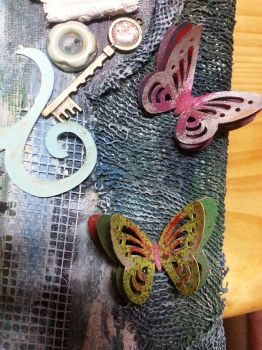 Michelle Canvas Butterfly detail by Roxie5526