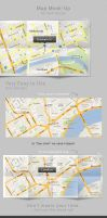 Map mock-up for web design by SynthDesign