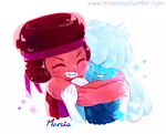 Ruby and Saphirre by m-arci-a