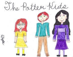 The Potter Children by whiterose62