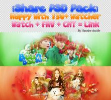 [Share PSD Pack ] Happy with 130+ watcher by Hannieedouble