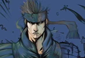 Solid Snake Colored by Animixter
