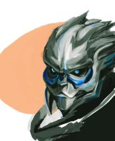 Speed Paint Garrus Vakarian by Khenmes