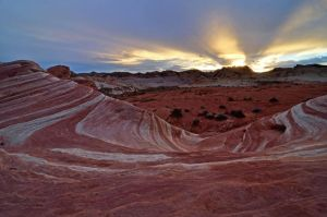 sunset fire wave valley of fire by yo13dawg