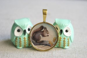Squirrel Pendant by foowahu-etsy