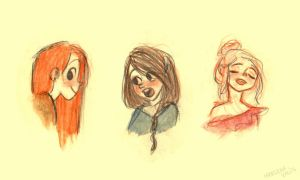 Girl Sketches by marlenakate
