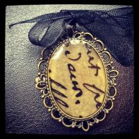 Victorian Letters Resin Broach by PhantomDawn