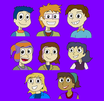 The Rugrats All Grown Up Main Cast by TXToonGuy1037