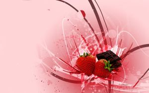 Strawberries and chocolate by Sanlea