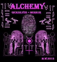 Egypt Alchemy Merkur Quicksilver god Toth by Mikewildt