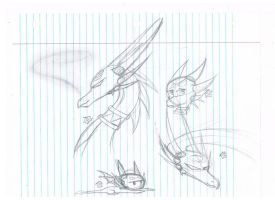 Cynder Sketches by IceHarp