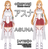 . : [COLLAB] ASUNA: Before and After : . by Yuuu-chan