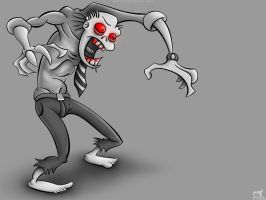 Zombie Salesman BW Wallpaper by Liemn