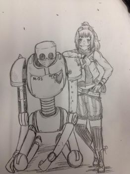 First Mech Sketch by Pacifica666