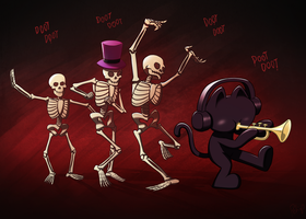 Monstercat Spooky Halloween Skeletals by petirep
