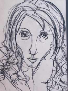Contour self-portrait by OmgItsEmily