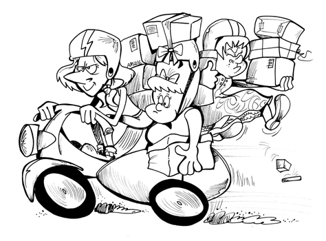 Commission: Drive-by shopping by Granitoons