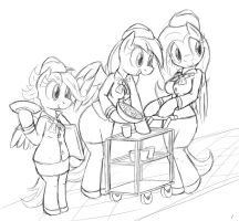 Stewardesses by tg-0