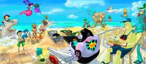 PN: Summer camp beach by Aroshi-Wish