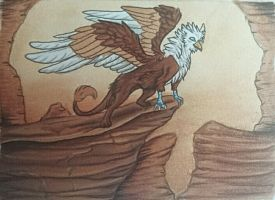 gryphon ACEO by Mori-No-Kami