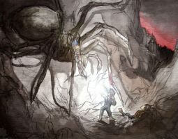 Sam Vs. Shelob from Adobe by danomano65