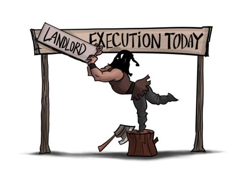 Landlord Execution Illustration by fan4battle