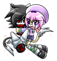 .::CP::. Hikuro and Kana by WatermelonOwl