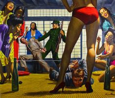 art from COLD WAR CATHOUSE by peterpulp
