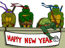 "TMNT ""Happy 2011"" by Michelleangela"