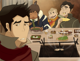 LOK: Come and eat Mako! (Colored) by ButterflyMelodyFox