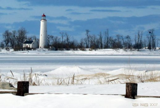 Lighthouse in Winter by Momma-Cat