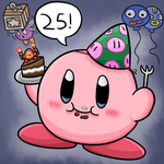 Happy 25th Anniversary Kirby! by thegamingdrawer