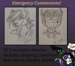 Emergency Sketch Commissions [OPEN] by ScratchingSouls