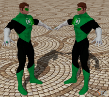 Green Lantern Hal By Razkurdt Logo XPS mod by Red-Lantern-2814