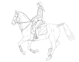 Show Jumping Lineart by StableOfAres