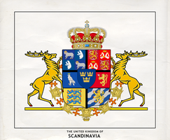 Coat of Arms of the United Kingdom of Scandinavia by Kuusinen