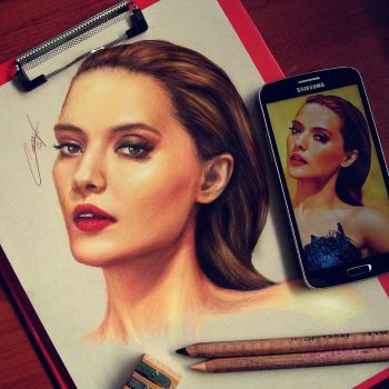 portait drawing media new art arts amazing love by CansuVURAL