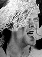 Kurt cobain drawing in the making close up by CalebSlabzzzGraham