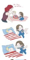 Steve and Bucky babies: Sick by SilasSamle