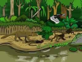 River Stalkers and Frog-Hoppers by Raptorboy998