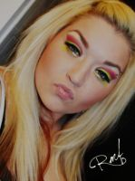 Magenta and lime green 3 by MakeupbyRMF