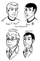 Good Omens and Star Trek by StrangeWeirdo